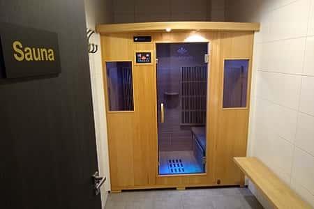 Luxe sauna in de groepsaccommodatie