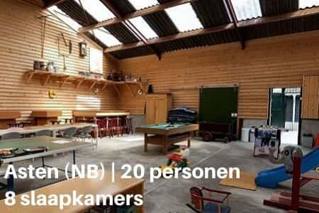 Groepsaccommodatie voor 20 personen, Asten, Brabant, 8 slaapkamers