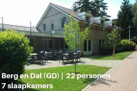 Groepsaccommodatie 20 personen, Nijmegen, Gelderland, 7 slaapkamers