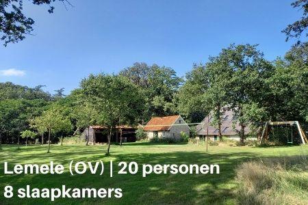 Familiehuis voor 20 personen, Lemele (Overijssel), 8 slaapkamers