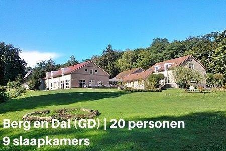 Vakantiehuis voor 20 personen, Berg en Dal