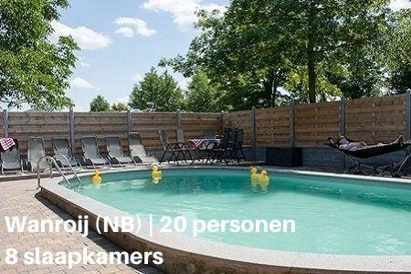 Groepsaccommodatie 20 personen met zwembad