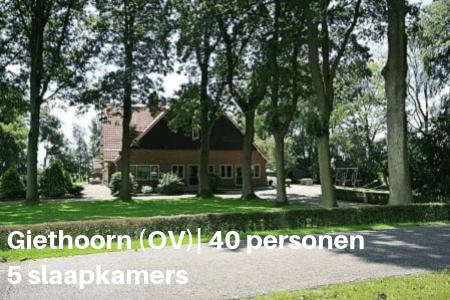 Groepsaccommodatie Giethoorn 40 personen 5 slaapkamers
