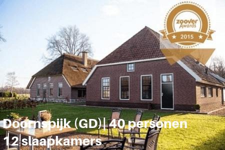 groepshuis Doornspijk 40  personen 12 slaap kamers