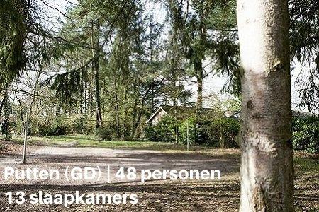 Groepshuis voor 48 personen in het bos
