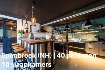 Vakantiehuis 40 personen Noord Holland