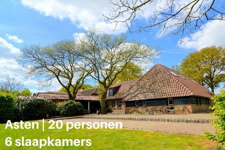 Groepsaccommodatie Het Wooldje, Brabant, Asten-Heusden, 12 personen, 6 slaapkamers