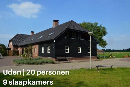 Groepsaccommodatie Lodge Slabroek, Brabant, Uden, 20 personen, 9 slaapkamers
