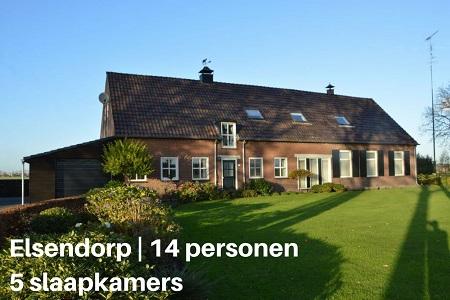 Groepsaccommodatie Vakantieboerderij Gerele Peel, Brabant, Elsendorp, 14 personen, 5 slaapkamers