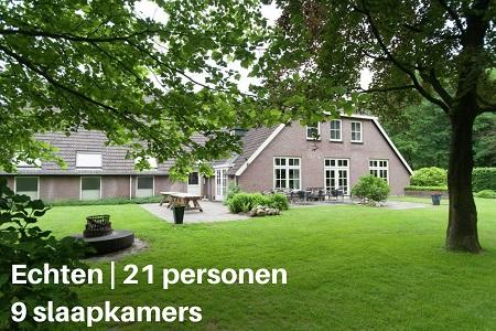 Groepshuis Drenthe 20 personen
