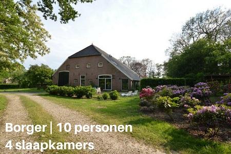 Groepsaccommodatie Boerderij Landgoed De Hereboerderij, Drenthe, Borger, 10 personen, 4 slaapkamers