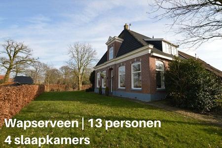 Groepsaccommodatie Familiehuis Westeinde, Drenthe, Wapserveen, 13 personen, 4 slaapkamers