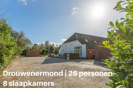 Grote groepsaccommodatie Drenthe, 26 personen