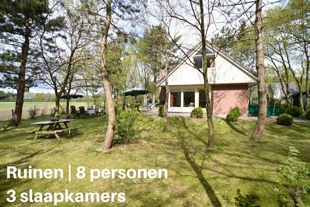 Groepsaccommodatie Vakantiehuis Paradijs Dwingelderveld, Drenthe, Ruinen, 8 personen, 3 slaapkamers