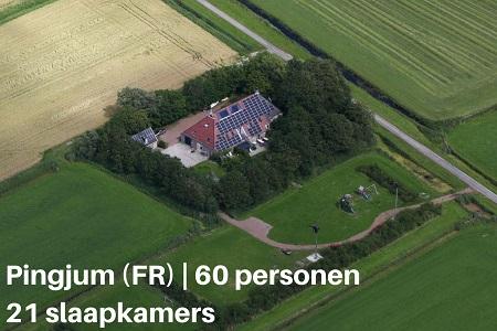 Grote groepsaccommodatie Friesland, 60 personen