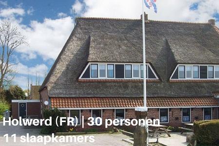 Groepsaccommodatie Boerderij Stelpshoeve, Friesland, Holwerd, 30 personen, 11 slaapkamers