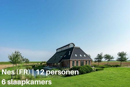 Groepsaccommodatie Boerderij Waddenzicht, Friesland, Nes Gem Dongeradeel, 12 personen, 6 slaapkamers