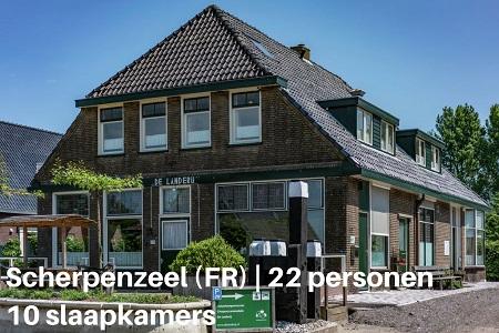 groepsaccommodatie de landerij friesland scherpenzeel 22 personen 10 slaapkamers