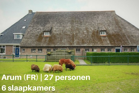 Groepsaccommodatie Vakantiehuis Het Stolphuis, Friesland, Arum, 27 personen, 6 slaapkamers