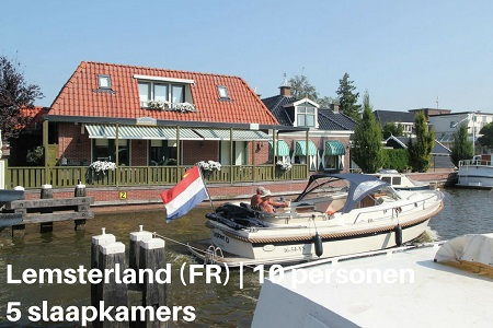 Groepsaccommodatie Vakantiehuis Meervaart, Friesland, Lemsterland, 10 personen, 5 slaapkamers