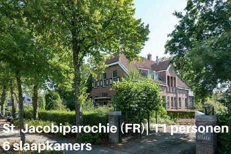 Groepsaccommodatie Villa Friese Staete, Friesland, Sint Jacobiparochie, 11 personen, 6 slaapkamers