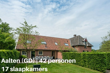 Groepshuis Gelderland, Aalten, 42 personen, 17 slaapkamers