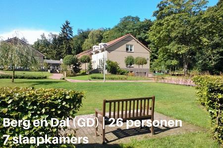 Groepsaccommodaties Gelderland, Berg en Dal, 26 personen, 7 slaapkamers