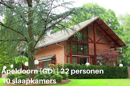 Groepsaccommodatie Villa Landhuis Magnifiek, Gelderland, Apeldoorn, 22 personen, 10 slaapkamers