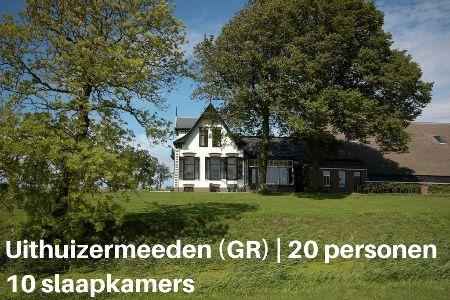 Groepsaccommodatie Boerderij Hefswal, Groningen, Uithuizermeeden, 20 personen, 10 slaapkamers