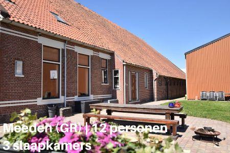 Groepsaccommodatie Vakantiehuis H En H Hoeve, Groningen, Meeden, 12 personen, 3 slaapkamers