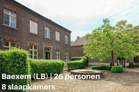 Groepsaccommodatie Hoeve De Schoor, Limburg, Baexem, 26 personen, 8 slaapkamers