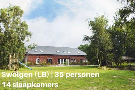 Groepsaccommodatie Kasteelboerderij Gunhof, Limburg, Swolgen, 35 personen, 14 slaapkamers