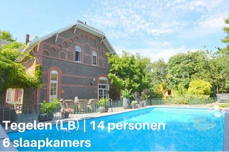 Groepsaccommodatie Villa Tegelen, Limburg, Tegelen, 14 personen, 6 slaapkamers