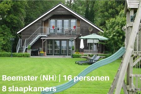 Groepsaccommodatie Vakantiehuis Silence II, Noord Holland, Beemster, 16 personen, 8 slaapkamers