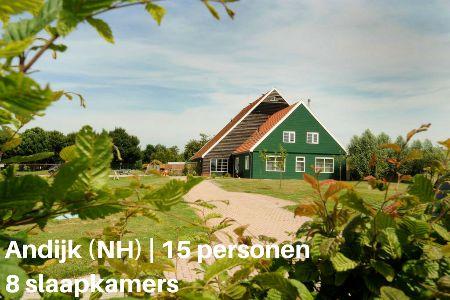 groepsaccommodatie vakantiehuis villa vakantiepark ijsselhof noord holland andijk 15 personen 8 slaapkamers