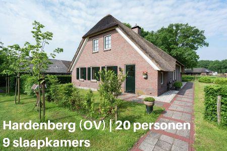 Groepsaccommodatie Boerderij Gerhardeshoeve, Overijssel, Hardenberg, 20 personen, 9 slaapkamers