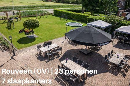 Groepsaccommodatie Vakantiehuis De Uitstap, Overijssel, Rouveen, 23 personen, 7 slaapkamers