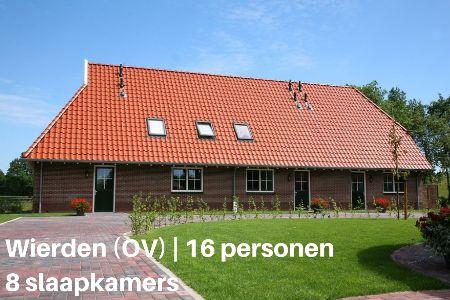 Kampeerboerderij Overijssel, 16 personen, 8 slaapkamers