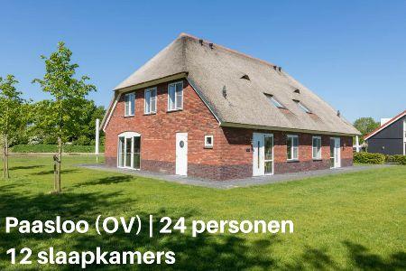 Groepsaccommodatie Vakantiehuis Résidence De Weerribben 31, Overijssel, Paasloo, 24 personen, 12 slaapkamers