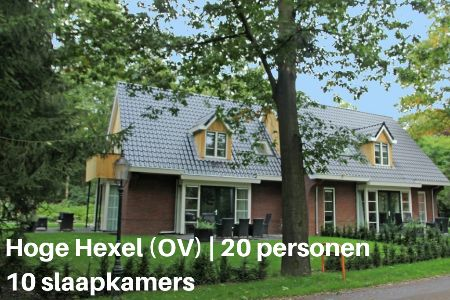 Groepsaccommodatie Vakantiehuis Twentsche Huus, Overijssel, Hoge Hexel, 20 personen, 10 slaapkamers
