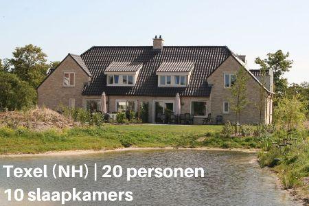 Groepsaccommodatie voor 20 personen op Texel
