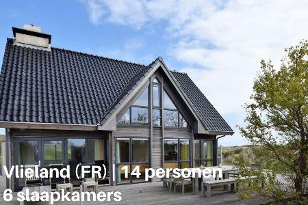Groepsaccommodatie Villa Vlielandse Duinvilla, Waddeneilanden, Vlieland, 14 personen, 6 slaapkamers