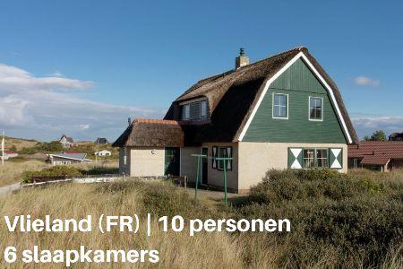 Groepsaccommodatie Villa Zeeschelp, Waddeneilanden, Vlieland, 10 personen, 6 slaapkamers