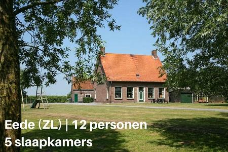Groepsaccommodatie Boerderij de Biezenpolder, Zeeland, Eede, 12 personen, 5 slaapkamers
