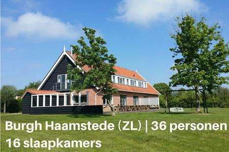 Groepsaccommodatie In De Boogerd, Zeeland, Burgh Haamstede, 36 personen, 16 slaapkamers