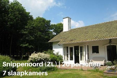 Groepsaccommodatie Landhuis Snippenoord, Zeeland, Biggekerke, 20 personen, 7 slaapkamers
