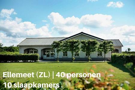 Groepsaccommodatie Recreatiepark Klaverweide, Zeeland, Ellemeet, 40 personen, 10 slaapkamers