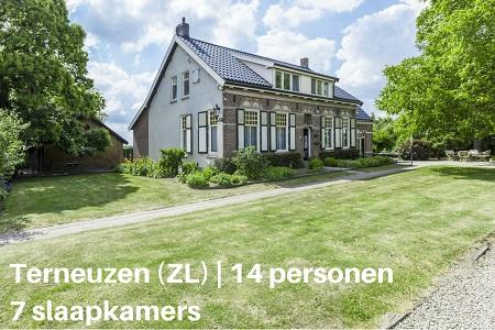 Groepsaccommodatie Vakantiehuis Bronzigt, Zeeland, Terneuzen, 14 personen, 7 slaapkamers