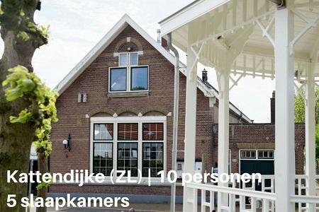 Groepsaccommodatie Vakantiehuis De Domus, Zeeland, Kattendijke, 10 personen, 5 slaapkamers