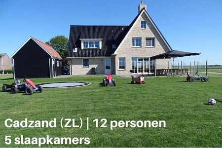 Groepsaccommodatie Vakantiehuis Villa Belvedère, Zeeland, Cadzand, 12 personen, 5 slaapkamers